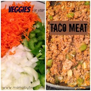 veggies taco meat collage edit