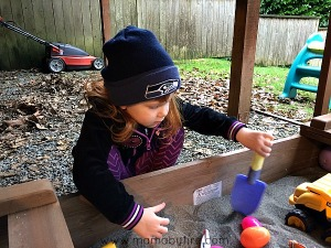 Digging in Sandbox Seahawks beanie