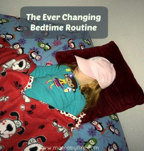 The Ever Changing Bedtime Routine sleeping toddler