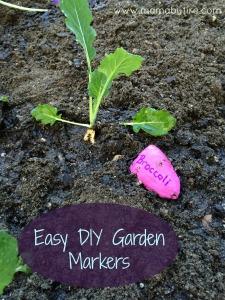 Easy garden markers broccoli garden marker with broccoli