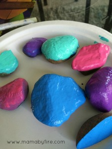 Easy garden markers painted rocks