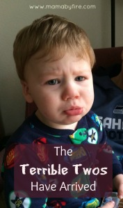 Terrible Twos Have Arrived Pouty faced toddler
